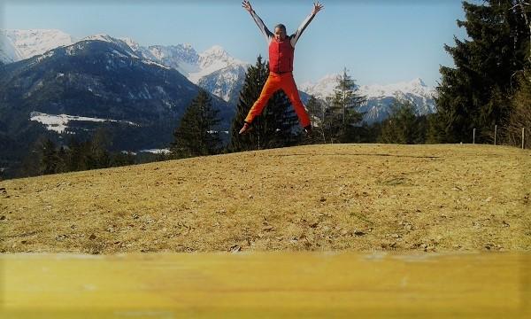 Luftsprung Selbsterfahrung Freude